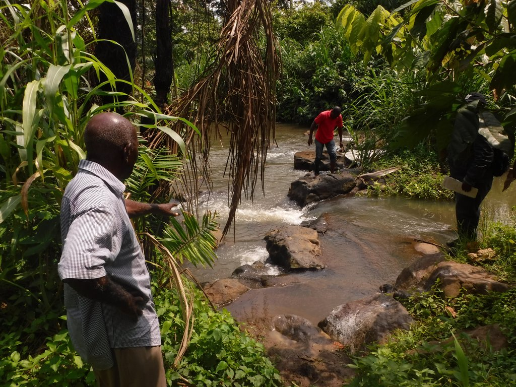 On the hunt for Simulium larvae South West Cameroon - Dr Louise Hamill